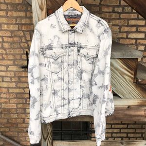 Denim Rock Revival White Stone Wash Jacket